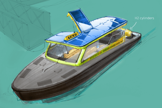 Rotterdam's first hydrogen water taxi expected in 2021