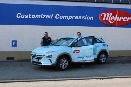 Mehrer receives Hyundai NEXO