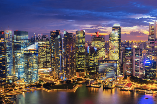 Trio studying Floating Data Centre Park in Singapore