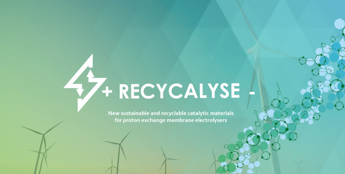 New sustainable and recyclable catalytic materials for proton exchange membrane electrolysers