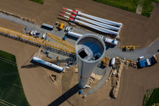 Windpark Salzgitter construction progressing well