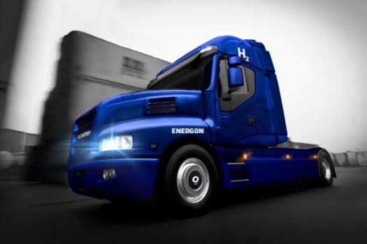 Quantron unveils fuel cell truck