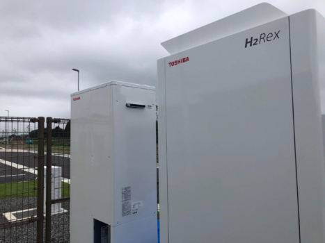 Toshiba delivers hydrogen fuel cell system