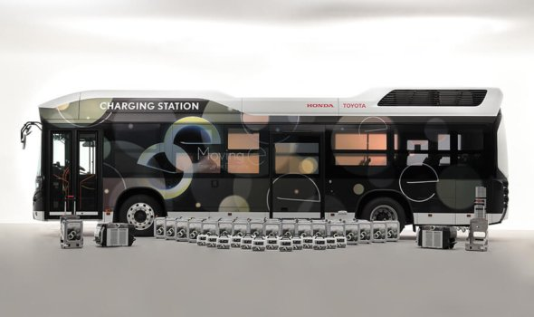 Toyota and Honda to develop fuel cell bus power generation system
