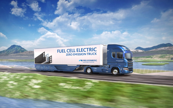 Freudenberg and Quantron cooperate on fuel cell truck project