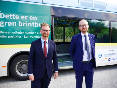 Denmark inaugurates country's first three hydrogen buses