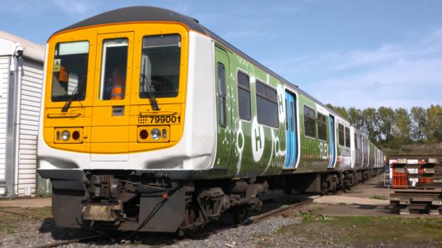 Hydrogen-powered train makes first UK journey