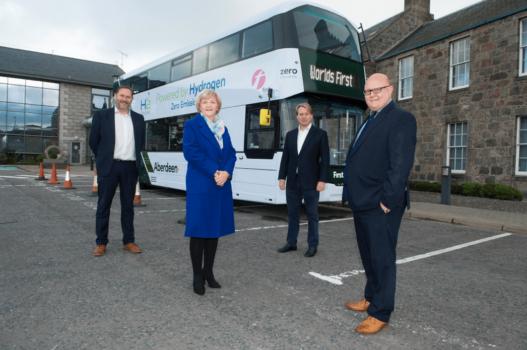 World's first hydrogen-powered double decker buses arrive in Aberdeen