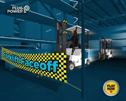 Plug Power launches Forklift Faceoff game