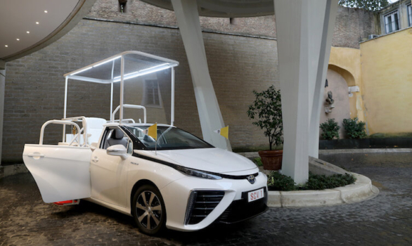 Pope Francis receives customised Toyota Mirai