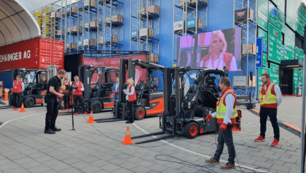Linde Material Handling unveils hydrogen-powered forklifts