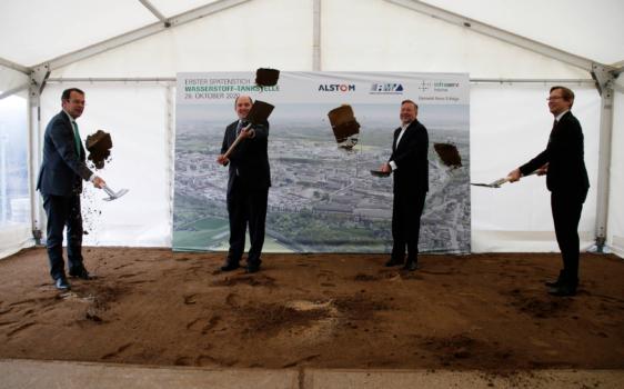 Hesse breaks ground on station for 'world's largest' hydrogen train fleet