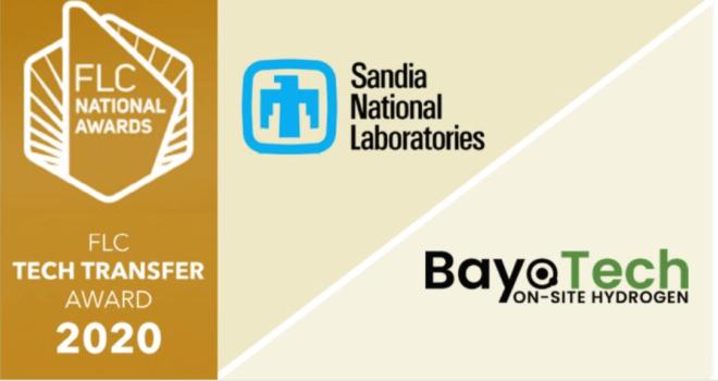 Sandia awarded for BayoTech partnership