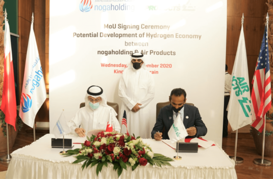 Air Products and nogaholding to develop Bahrain's hydrogen economy