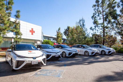 DriveH2, Toyota donate five hydrogen-powered Mirai's to Red Cross