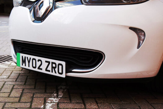 UK introduces green number plates for zero emission vehicles