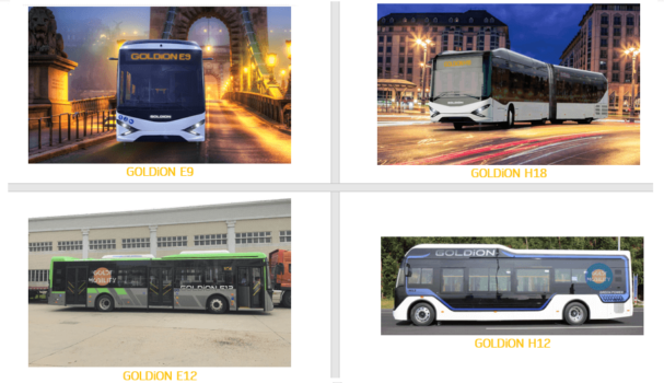 GOLDI Mobility launches four zero emission bus models