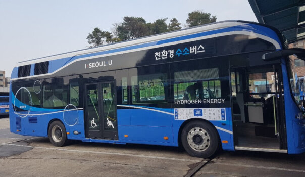 Hydrogen buses operating in Seoul