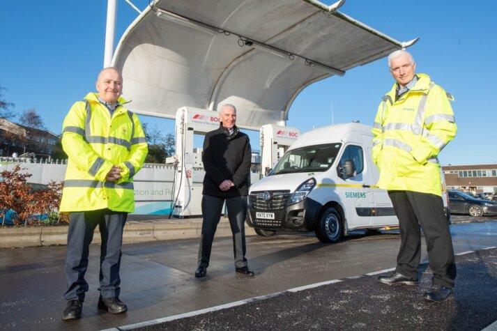 New dual-fuel van operating in Aberdeen