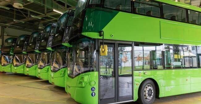 Three hydrogen double decker buses set for Dublin