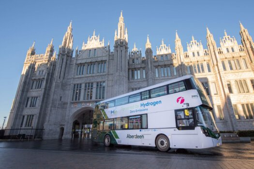 World's first hydrogen-powered double decker buses to begin service tomorrow