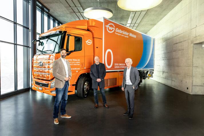 Hyundai XCIENT Fuel Cell added to Gebrüder Weiss' vehicle fleet