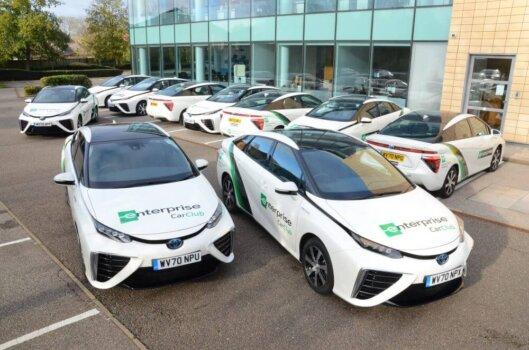 Enterprise adds 17 hydrogen cars to UK fleet