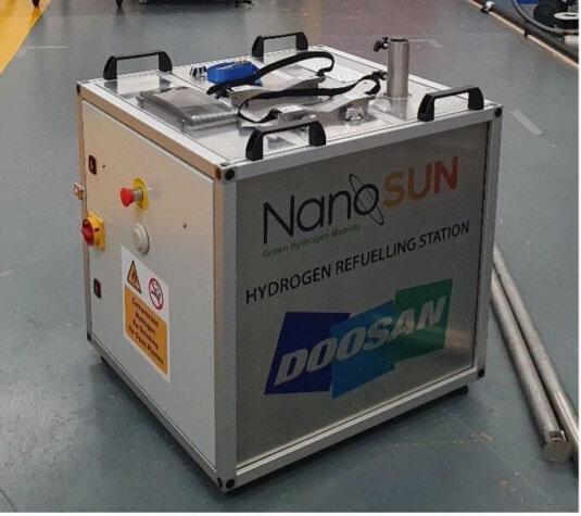 NanoSUN hydrogen station to fuel Doosan UAVs