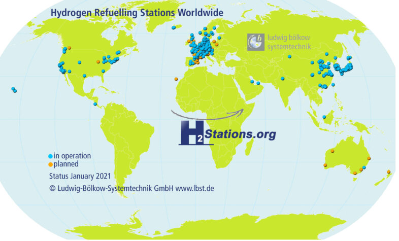 2020: A record-breaking year for hydrogen station developments