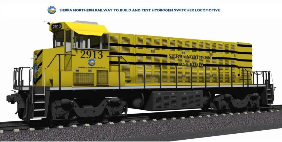 Hydrogen switcher locomotive under development in California