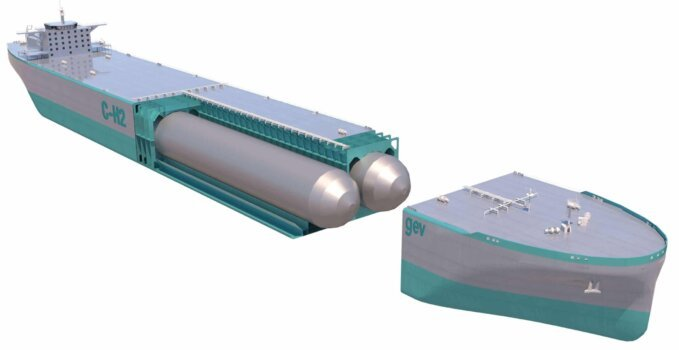 GEV granted AIP for C-H2 ship containment system