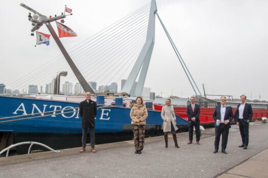 Inland navigation barge set to connect Netherland's two largest hydrogen sources