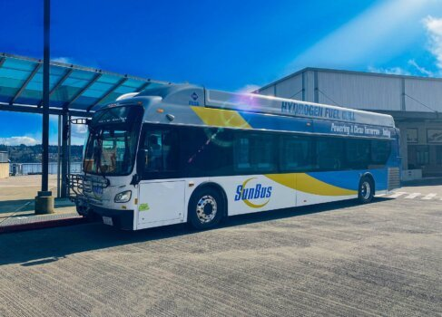 New Flyer's hydrogen-powered bus begins two-week US tour