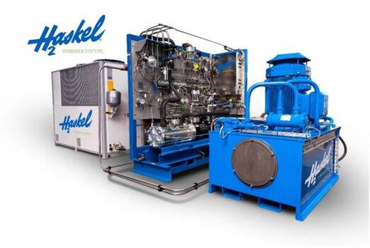 Haskel provides hydrogen equipment for Total Nederland refuelling station