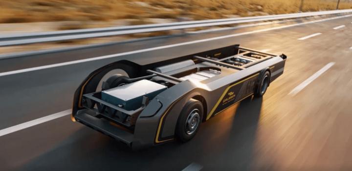 Gaussin unveils 100% hydrogen 'skateboard' for trucking