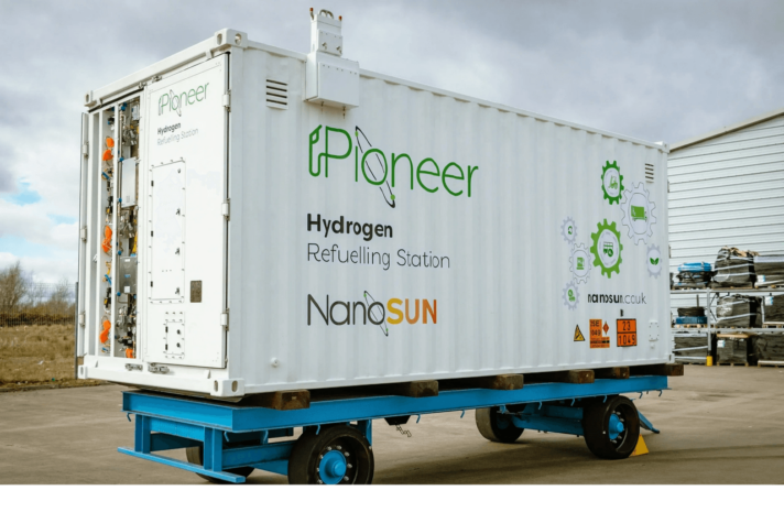 NanoSUN: Mobile hydrogen refuelling station completes first filling of hydrogen vehicle