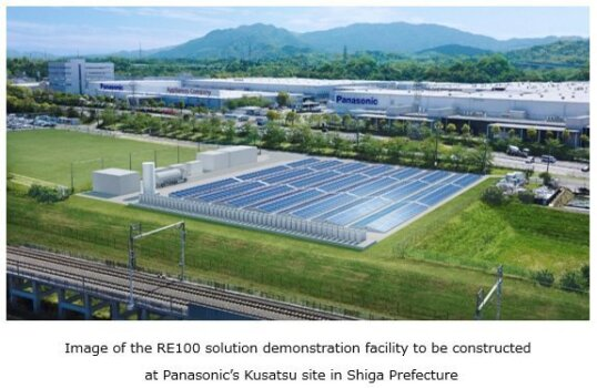 Panasonic to produce renewable electricity with pure hydrogen fuel cell generators; unveils plans RE100 factory with full-scale use of hydrogen
