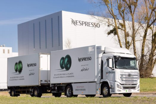 Hydrogen key in decarbonising Nespresso logistics; will increase hydrogen trucks to six by 2022