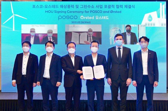 Ørsted, POSCO strengthen relationship to collaborate on renewable hydrogen in Korea