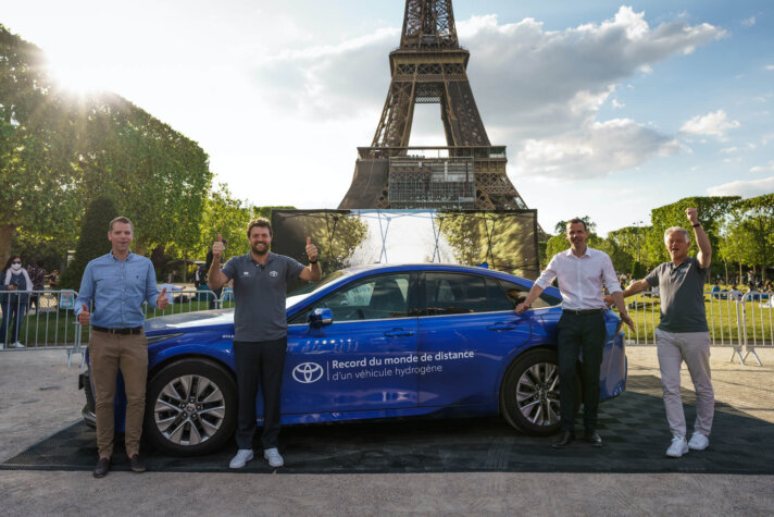Toyota Mirai breaks world record for distance travelled with one fill of hydrogen