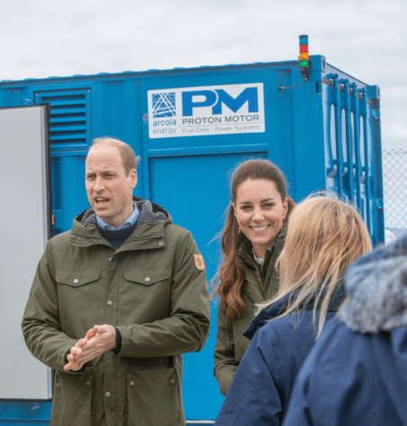 Duke and Duchess of Cambridge visit Proton Motor fuel cell power plant in Orkney; hydrogen powering berthed vessels