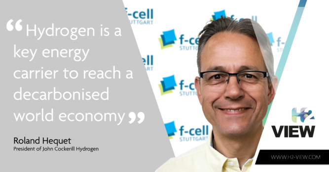 f-cell: Exclusive interview with Roland Hequet, President of John Cockerill Hydrogen