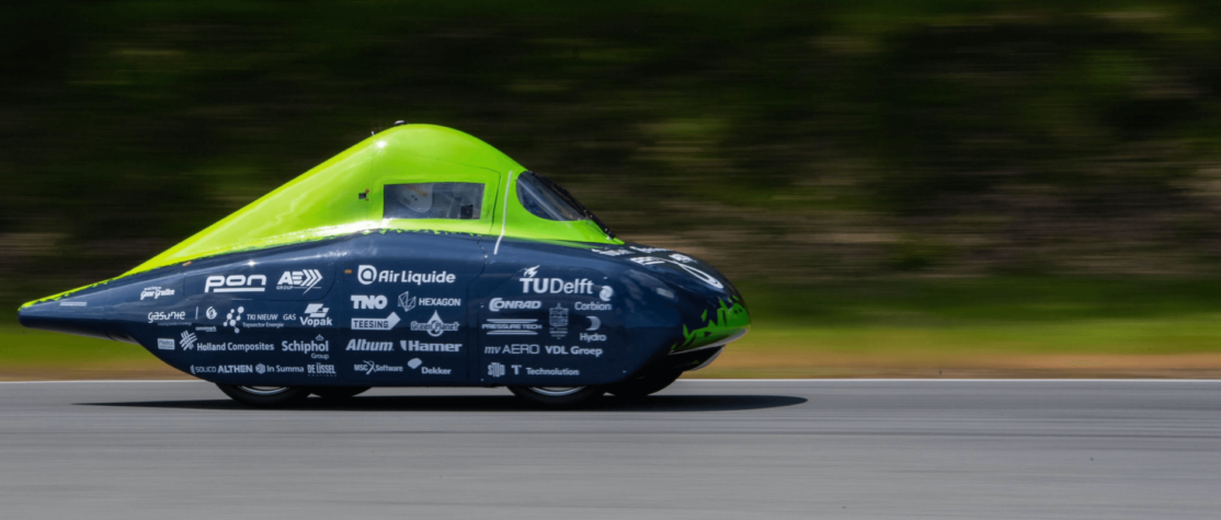 Delft University team wants to smash the Toyota Mirai hydrogen distance record with the Eco Runner XI