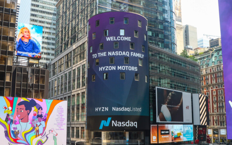 Hyzon Motors now trading on Nasdaq