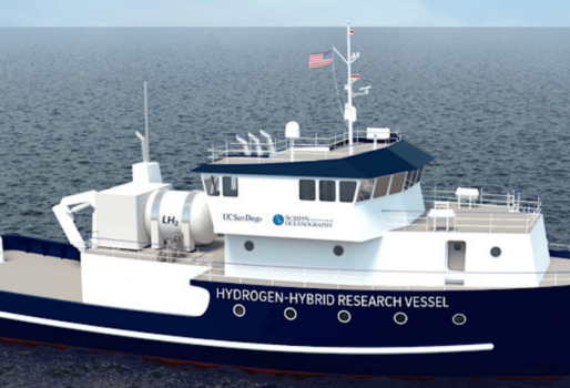 New hydrogen-powered coastal research vessel under development in California