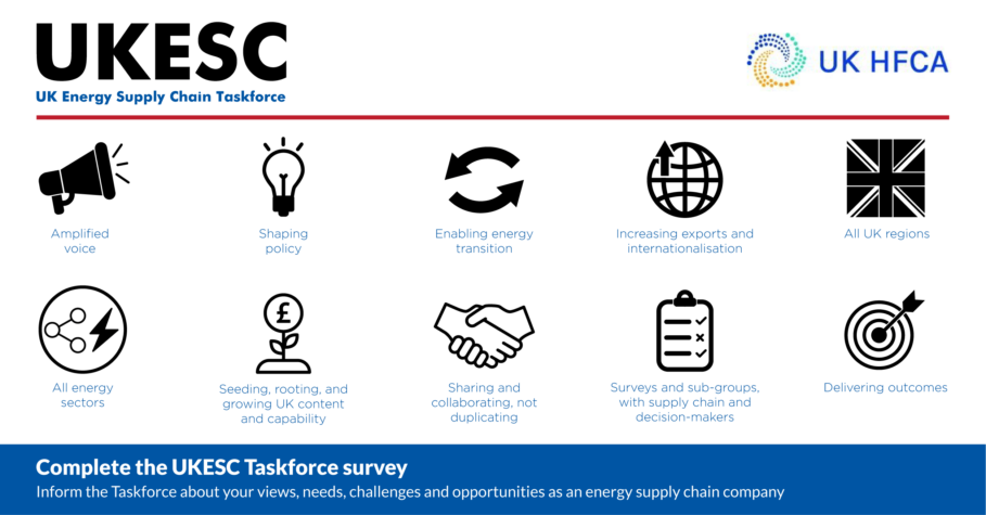 UKESC taskforce launched to achieve 2050 net zero targets; UK HFCA shows support