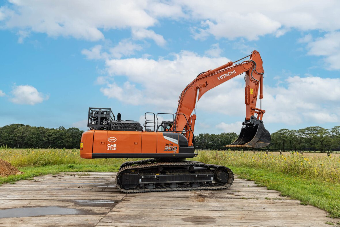 H2-View: Hydrogen-powered excavator unveiled for the construction industry.