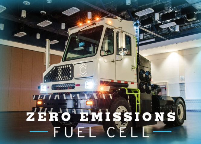 New hydrogen-powered terminal truck unveiled by Capacity Trucks