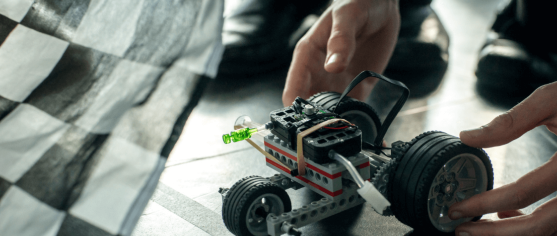 Scottish students use miniature hydrogen fuel cells to power LEGO cars in new competition