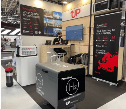 PowerUP Energy Technologies showcases hydrogen cabinet at IAA Mobility in Munich
